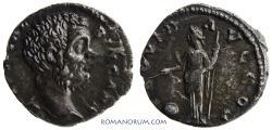Ancient Coins - CLODIUS ALBINUS. (AD 193-97) Denarius, 2.64g.  Rome. Toned. Clashed dies.