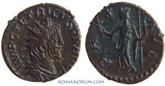 Ancient Coins - TETRICUS. (AD 270-273) Antoninianus, 2.14g.  Cologne. PAX AVG Scarce in this condition.