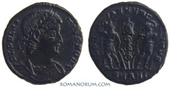 Ancient Coins - DELMATIUS. (AD 335-337) AE 3, 2.11g.  Antioch. GLORIA EXERCITVS