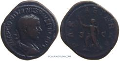 Ancient Coins - GORDIAN III. (AD 238-244) Sestertius, 27.44g.  Rome. Unusually heavy for type.
