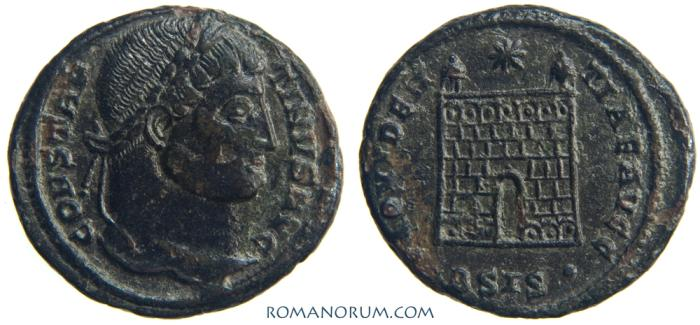 Ancient Coins - CONSTANTINE I, The Great. (AD 306-337) Follis, 3.14g.  Siscia. PROVIDENTIAE AVGG