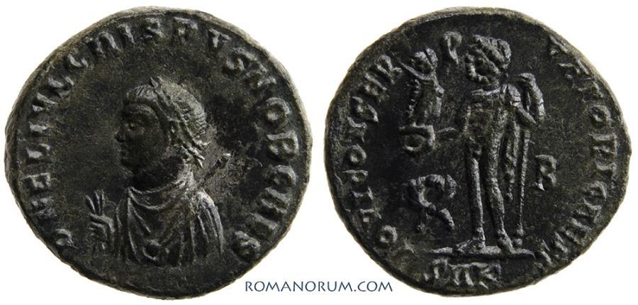 Ancient Coins - CRISPUS. (AD 317-326) AE3, 3.14g.  Cyzicus. Scarce. Scarce. Small bust.