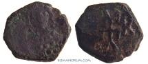Ancient Coins - MANUEL I COMNENOS. (1143 -1180) 1/2 tetarteron, 1.19g.  Constantinople. Monogram.