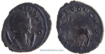 Ancient Coins - SALONINA. (Wife of Gallienus) Antoninianus, 2.64g.  Rome. Bearded Elk.