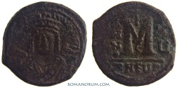 Ancient Coins - MAURICE TIBERIUS. (AD 582-602 ) Follis, 10.57g.  Theopolis (Antioch) ANNO XU
