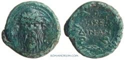 Ancient Coins - Macedonia / D. Junius Silanus Manlianus, Praetor. (142-141 BC) AE22, 10.43g.  Macedonia MAKEDONON
