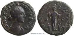 Ancient Coins - FAUSTINA JUNIOR. (Wife of Marcus Aurelius) As, 14.16g.  Rome. Commodus and twin brother as babies.