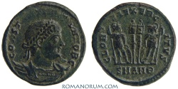 Ancient Coins - CONSTANTINE II. (AD 337-340) AE3, 2.74g.  Antioch. GLORIA EXERCITVS