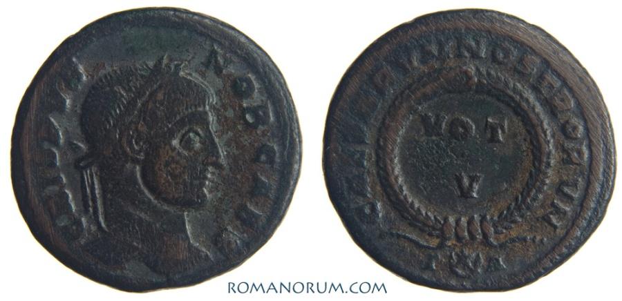 Ancient Coins - CRISPUS. (AD 317-326) AE3, 3.04g.  Arles. CAESARVM NOSTRORVM