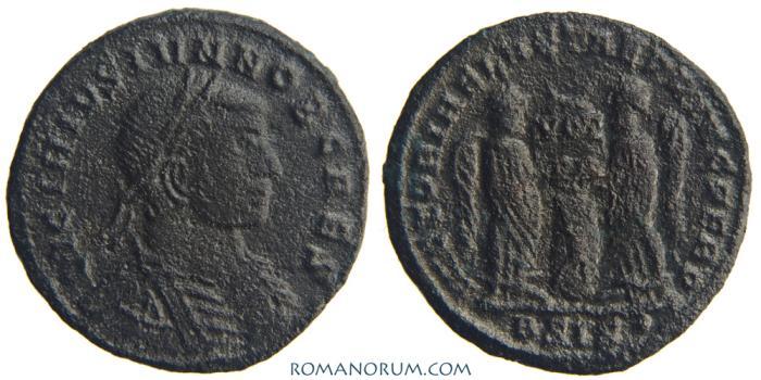 Ancient Coins - LICINIUS II. (317-324) AE 3, 2.20g.  Siscia. VICTORIAE LAETAE