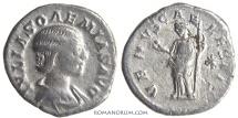 Ancient Coins - JULIA SOAEMIAS. (d. AD 222.  Mother of Elagabalus.) Denarius, 2.71g.  Rome.  Venus