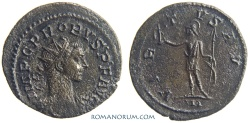 Ancient Coins - PROBUS. (AD 276-282) Antoninianus, 3.32g.  Lugdunum. VIRTVS AVG