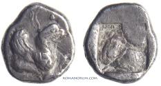 Ancient Coins - IONIA, TEOS. (530-478 BC) Hemiobol., 0.64g.
