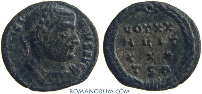 Ancient Coins - LICINIUS. ( AD 308-324) AE3, 2.80g.  Thessalonica. Formerly rare.