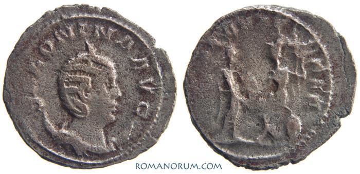 Ancient Coins - SALONINA. (Wife of Gallienus) Antoninianus, 3.35g.  Antioch. ROMAE AETERNAE
