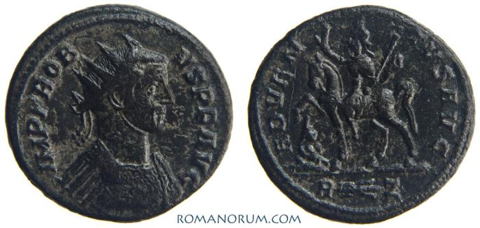 Ancient Coins - PROBUS. (AD 276-282) Antoninianus, 3.86g.  Rome. ADVENTVS AVG. Great centering, great patina.