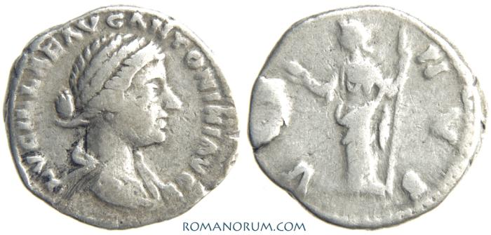 Ancient Coins - LUCILLA. (Sister of Commodus) Denarius, 3.14g.  Rome. VENUS. Struck under Lucius Verus.