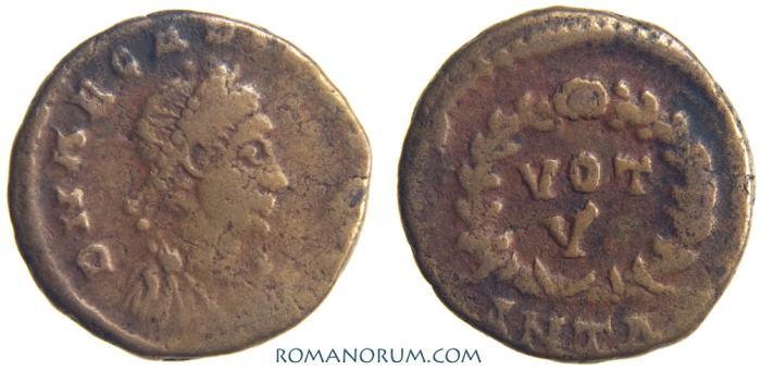 Ancient Coins - ARCADIUS. (AD 395-408) AE4, 1.11g.  Antioch. VOT V