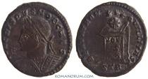 Ancient Coins - CRISPUS. (AD 317-326) AE3, 3.04g.  Trier. BEATA TRANQVILLITAS. Splendid obverse.