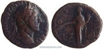 Ancient Coins - ANTONINUS PIUS. (AD 138-161) As, 9.53g.  Rome. Pax. Nice red patina.