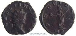 Ancient Coins - GALLIENUS. (AD 253-268) Antoninianus, 3.51g.  Mediolanum. PROVID AVG Nice brown-reddish patina.