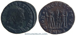 Ancient Coins - CONSTANTINE II. (AD 337-340) AE3, 1.42g.  Cyzicus. Very rare with obverse legend dot.