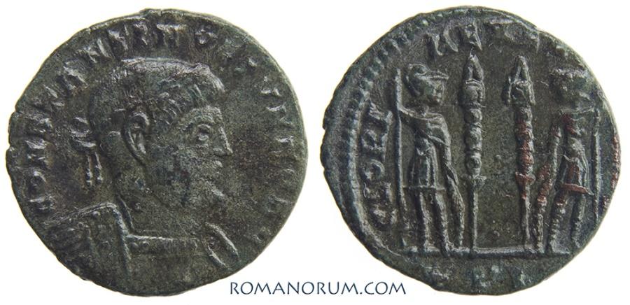 Ancient Coins - CONSTANTINE II. (AD 337-340) AE3, 1.99g.  Lyon.