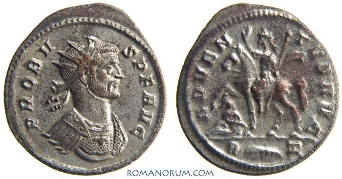 Ancient Coins - PROBUS. (AD 276-282 ) Antoninianus, 3.32g.  Rome. ADVENTVS AVG.  Mostly silvered. Striking portrait.