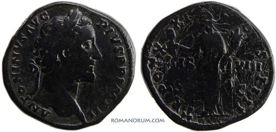 Ancient Coins - ANTONINUS PIUS. (AD 138-161 ) Sestertius, 27.69g.  Rome. Actually rather rare.