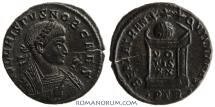 Ancient Coins - CRISPUS. (AD 317-326) AE3, 3.15g.  Trier. Rare. Featured in Wildwinds.com