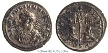 Ancient Coins - LICINIUS II. (AD 317-324) AE 3, 3.11g.  Thessalonica. Rare, silvered. Featured in wildwinds.com