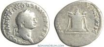 Ancient Coins - DOMITIAN. (AD 81-96) Denarius, 2.39g.  Rome.