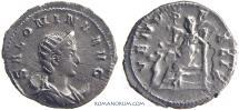 Ancient Coins - SALONINA. (Wife of Gallienus) Antoninianus, 3.30g.  Cologne. Restruck brockage or clashed dies.