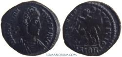 Ancient Coins - CONSTANTIUS II. (AD 337-361) AE 3, 2.36g.  Sirmium. Beautiful black patina.