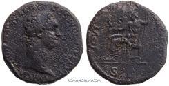 Ancient Coins - DOMITIAN. (AD 81-96) Sestertius, 24.05g.  Rome. IOVI VICTORI