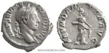 Ancient Coins - SEVERUS ALEXANDER. (AD 222-235) Denarius, 3.28g.  Rome. ABVNDANTIA AVG