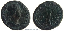 Ancient Coins - FAUSTINA JUNIOR. (Wife of Marcus Aurelius) As, 13.43g.  Rome. FECVND AVGVSTAE