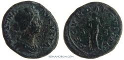 Ancient Coins - FAUSTINA JUNIOR. (Wife of Marcus Aurelius) As, 13.43g.  Rome. FECVND AVGVSTAE