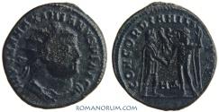 Ancient Coins - MAXIMIANUS. (AD 286-305) Follis, 3.50g.  Heraclea. CONCORDIA MILITVM