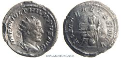Ancient Coins - PHILIP I, The Arab. (AD 244-249) Antoninianus, 2.74g.  Rome. ROMAE AETERNAE. Mysterious shape: cupped.