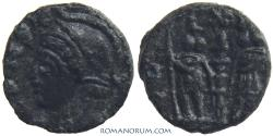 Ancient Coins - BARBAROUS CONSTANTINIAN IMITATION. (c. mid 4th Century AD) [AE4], 0.67g.  9mm.