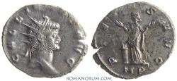 Ancient Coins - GALLIENUS. (AD 253-268) Antoninianus, 2.82g.  Mediolanum. PIETAS AVG Scarcer mintmark