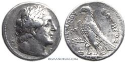Ancient Coins - PTOLEMY II Philadelphos. (221-204 BC) Tetradrachm. , 13.97g.  Cypriote mint. Reformed coinage, with SOTIROS.