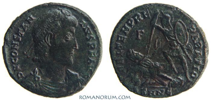 Ancient Coins - CONSTANTIUS II. (AD 337-361) AE2, 5.12g.  Nicomedia. FEL TEMP REPARATIO.