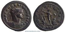 Ancient Coins - AURELIAN. (AD 270-275) Antoninianus, 4.00g.  Ticinum. Silvered.