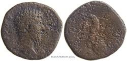 Ancient Coins - LUCIUS VERUS. (AD 161-169) Sestertius, 25.30g.  Rome. Eagle.