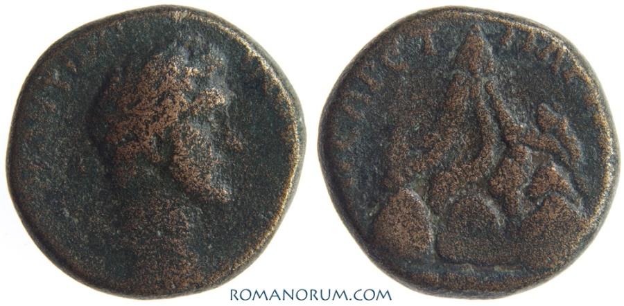 Ancient Coins - ANTONINUS PIUS. (AD 138-161) AE21, 10.91g.  Caesarea, Cappadocia. Mount Argaeus. Variant legend.