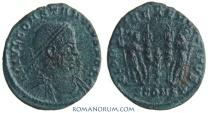 Ancient Coins - CONSTANTINE II. (AD 337-340) AE3, 2.25g.  Arles. GLORIA EXERCITVS