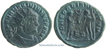 Ancient Coins - MAXIMIANUS. (AD 286-305) Follis, 2.71g.  Cyzicus. CONCORDIA MILITVM Post-reform follis.