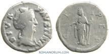 Ancient Coins - FAUSTINA SENIOR. (AD 138-141) Denarius, 3.23g.  Rome. CERES